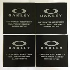 Oakley Minute Machine Diamond Edition Certificate of Authenticity POP Card New !