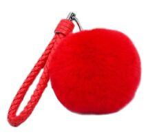 Pom Pom Rabbit Fur Ball Fluffy Ring Handbag Key Chain Bag accessories KeyChain