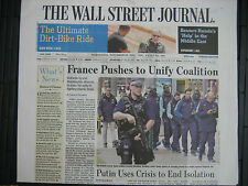 WALL STREET JOURNAL EUROPE NOVEMBER 18th French Newspapers Paris Terror Attacks
