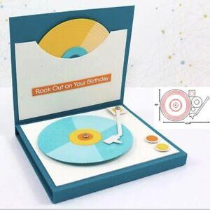 Phonograph Embossing Stencil Metal Cutting Dies Scrapbooking Paper Card Craft