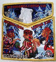 MICHIGAMEA 110 CALUMET 189 352 FLAP OA 100TH 2015 NOAC 2-PATCH GMY 1PER DELEGATE