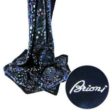 $495 New BRIONI Handmade Navajo Square Silk Wrap Scarf Shawl Fashion Headscarf