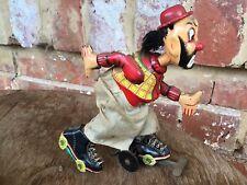 Rare Japanese Tin Toy...Clown On Rollerskates...