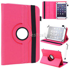 "For 7"" 8"" 10"" Android Tablets PC 360° Rotating Universal Leather Case Cover +Pen"