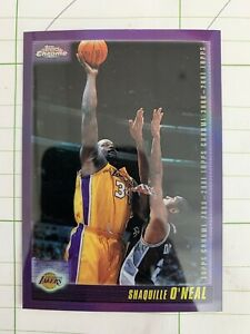 Shaquille O'Neal 2001 Topps Chrome Refractor #8 Shaq Los Angeles Lakers