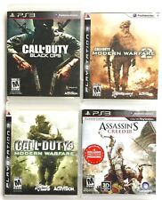 4 SONY PS3 GAMES CALL OF DUTY BLACK OPS MODERN WARFARE 2 & 4 & ASSASSINS CREED 3
