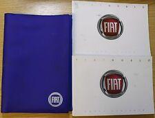 FIAT DOBLO HANDBOOK OWNERS MANUAL WALLET 2010-2015 PACK PRINTED 2012 PACK 14395