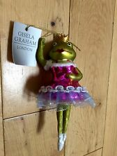 LADY FROG GISELA GRAHAM - COLLECTABLE GLASS BAUBLE TREE DECORATION 1085