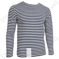Long Sleeve Top Navy Blue Stripe Russian Marines Surplus Military Summer A02103