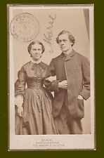 1863 Civil War CDV of young Amelia Jackson Holmes with (John Torrey Morse ) ?