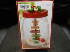 "San Miguel Holiday ""North Pole"" Glass Jar Lighting 4.5X6"" Includes 15 LED Lights"