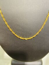 22K SOLID GOLD Twisted Curb Chain Necklace 7.3 GRAMS 2.45mm Approx