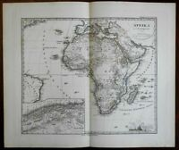 African Continent blank interior 1875 Stieler detailed map
