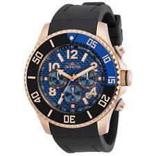 Invicta Men's Watch Pro Diver Chronograph Blue Dial Black Rubber Strap 30710