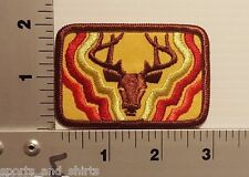 DEER HUNTING OUTDOORS VINTAGE EMBROIDERED PATCH