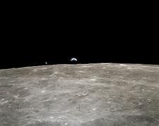 Nasa Apollo 16 Earthrise mit Kommando Modul 16x20 Silber Halogen Fotodruck