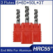 6mm Carbide Endmill 2 Flute Flat Bottom Regular TiAlN