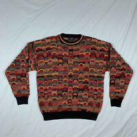 Vintage Protege Coogi Cosby Sweater Bright Colors Textured Biggie XL