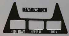 Suzuki Gt750 Range Console Centrale Vitesse Position Autocollant