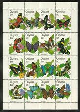 Guyana 1990 Butterflies Sheetlet Mint Never Hinged #3509