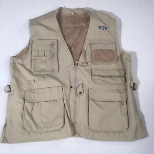 Multi Pocket Photography Vest Khaki With Mesh Size Large Mens United Nations WFP