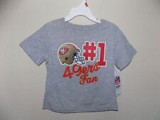 Nfl Sf 49ers Football-Gray Short Sleeve Tee Shirt-Size 2 T-Cotton Blend