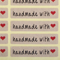 200pcs=10Sheet Paper Stickers Label Handmade with love Rectangle Seals Craft TK