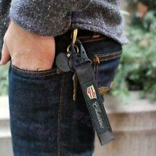 Metal Keychain Backpack KeyRing Hook Strap For CADILLAC Racing Blk Lanyard Nylon