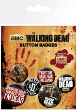 The Walking Dead 6x Button Badge Set AMC TV Series Official Merchandise