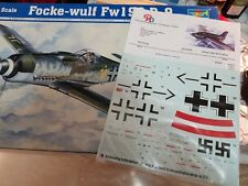 TRUMPETER 1/24 FOCKE WULF FW190D WITH RARE 1/24 PEDDINGHAUS DECALS