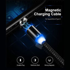 1-3M LED Magnetic Type-C Micro IOS Adapter Charge USB Cable For iPhone Samsung