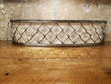 "Wall Light Golden Bronze Clear Crystal 25"" Light Bar Fixture Bathroom Vanity"