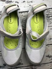 LANDS END Women Size 9 H Comfort MARY JANE Water Shoes Silver Frost