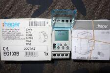 HAGER EG103B Interrupteur horaire, horloge journalière ou hebdomadaire 220V 16A.