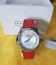 Coach MADDY STAINLESS STEEL LEATHER STRAP WATCH  14501797