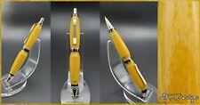 Retractable Pen Handmade with Yellowheart Wood