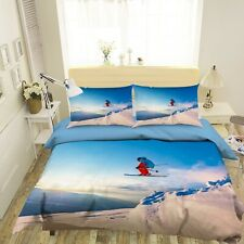 3D Extreme Sport Outdoor Skiing KEP964 Bed Pillowcases Quilt Duvet Cover Kay