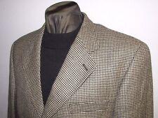 Ralph Ralph Lauren 3 btn tan black houndstooth wool sport coat blazer  42 R