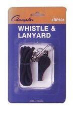 NEW Champion All Sports Coaches Referee Teacher BP601 Plastic Whistle w Lanyard