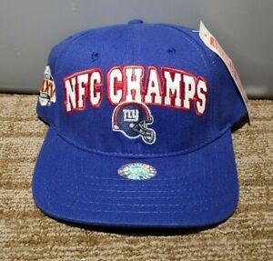 VTG 90s New York Giants Logo NFC Champions Cap Hat Strapback Super Bowl RARE