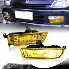 For 1997 1998 1999 2000 2001 Honda Prelude Yellow Lens Bumper Fog Light Lamps