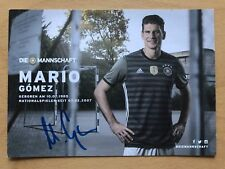 Mario Gomez AK DFB 2016 Autogrammkarte hinten original signiert