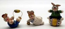 Midwest of Cannon Falls Eddie Walker Lot of 3 Easter Bunny Small & Mini Figure