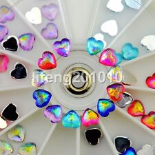 60PCS heart nail glitter rhinestones wheel acrylic 3d nail art decoration tools