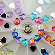 60PCS heart nail glitter rhinestones wheel acrylic 3d nail art decoration tools