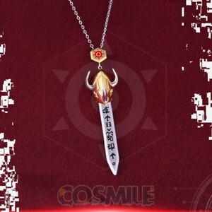 Digimon Adventure Digital Omegamon Grey Sword 925 Silver Pendant Necklace