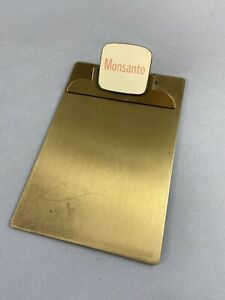 Vintage Monsanto Advertising Brass Mini Clipboard