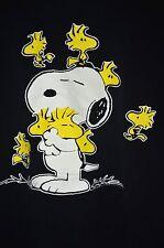 Snoopy Woodstock Charlie Brown Tee Shirt Size Medium Black Flirts C5