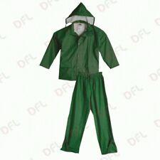 Completo giacca e pantalone impermeabile da lavoro antipioggia tg XL verde
