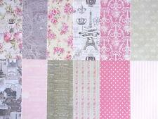 "Dovecraft Sweet Paris 8x8"" Scrapbook Papers - 12 Fogli-stile vintage"